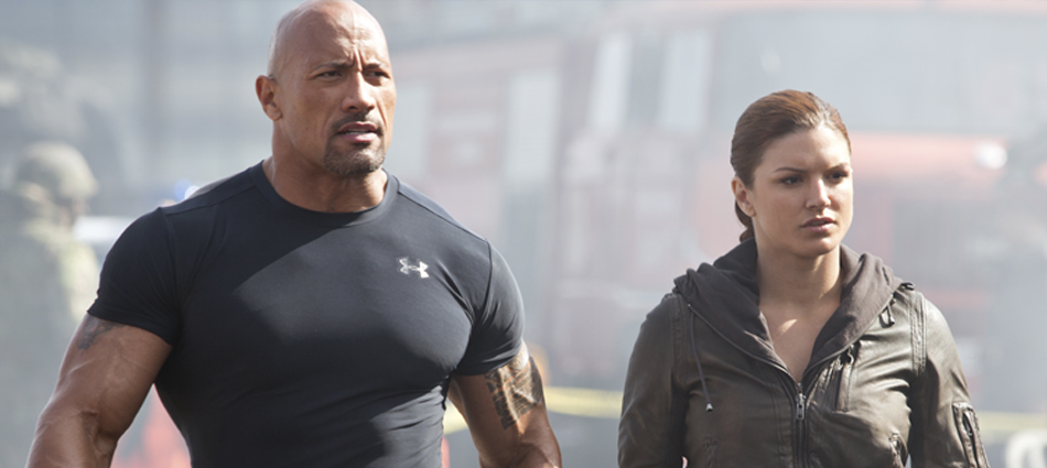 The Rock om Brock Lesnar och om Ronda Rousey vs Gina Carano