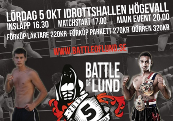 Ännu en match har presenterats för Battle of Lund 5