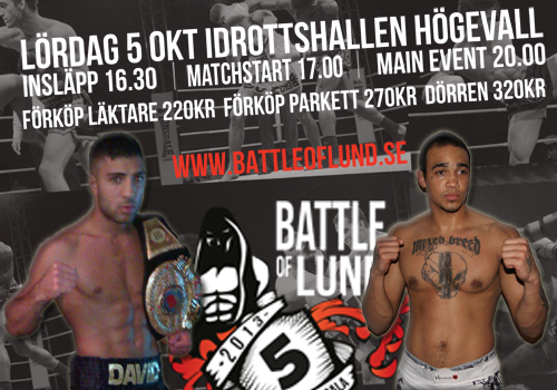 David Teymur möter Jermaine Scott på Battle of Lund 5