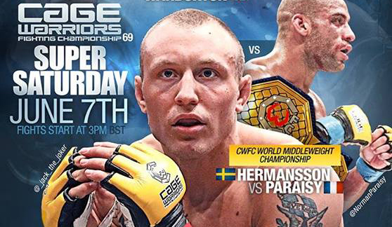 Jack Hermansson tog hem mellanviktstiteln i Cage Warriors