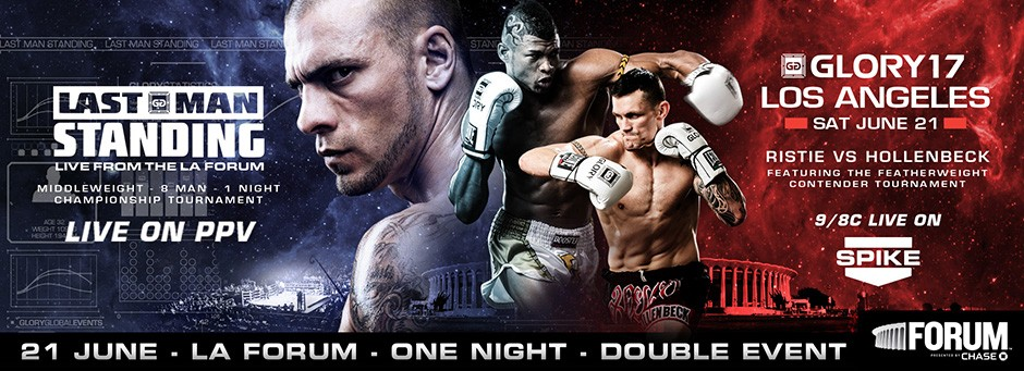 Fightcard för Glory Last Man Standing och Glory 17 Los Angeles
