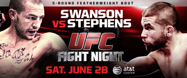 "UFC Fight Night 44 ""Swanson vs Stephens "" i siffror"