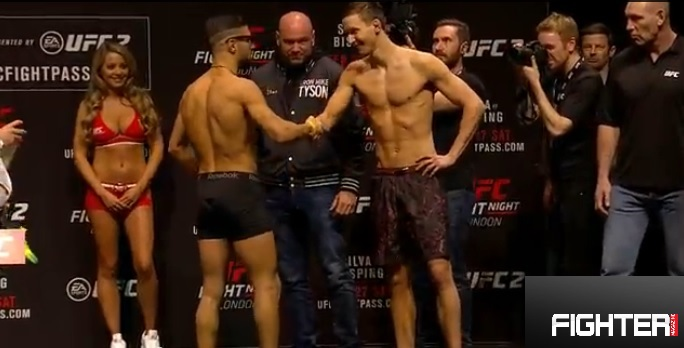 UFC Fight Night London: Invägningsresultat