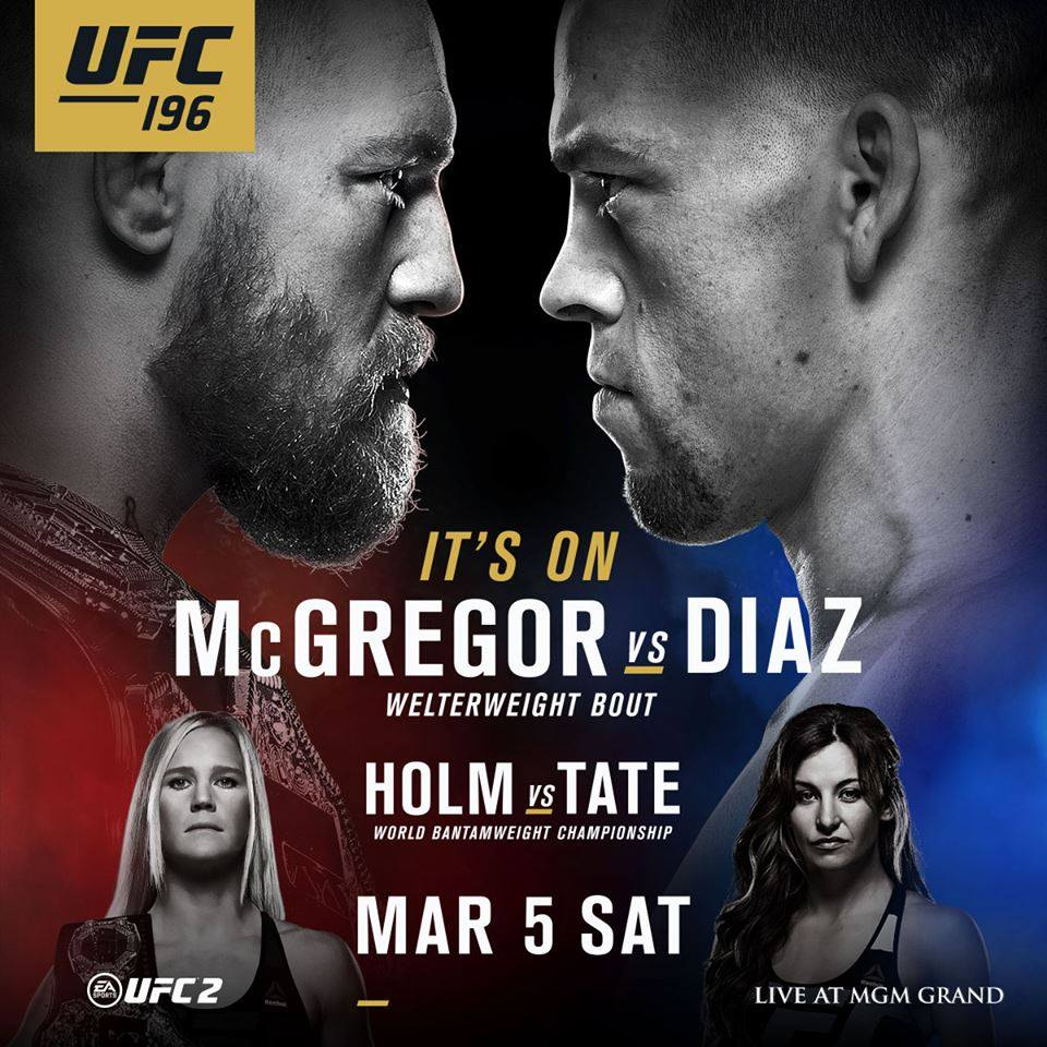UFC 196: McGregor vs. Diaz – Matchkort