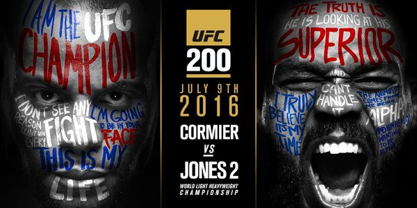 UFC 200: Cormier vs. Jones II – Matchkort