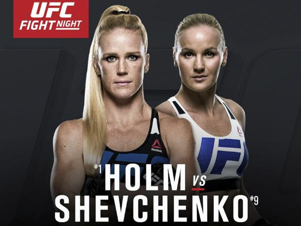 UFC on FOX 20: Holm vs. Shevchenko – Matchkort