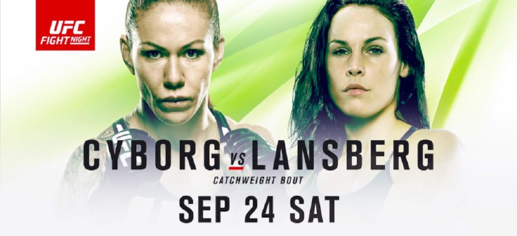 UFC Fight Night 95: Länsberg vs. Cyborg – Resultaten