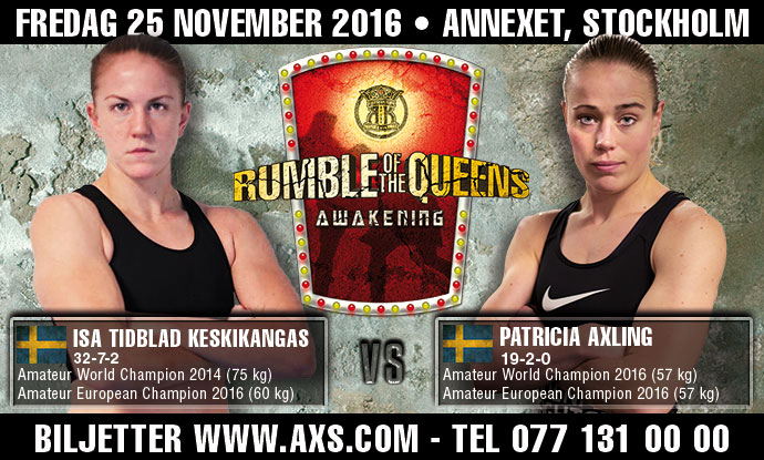 Isa Tidblad-Keskikangas vs. Patricia Axling – Rumble of the Queens!