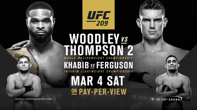 UFC 209: Matchkort och preview