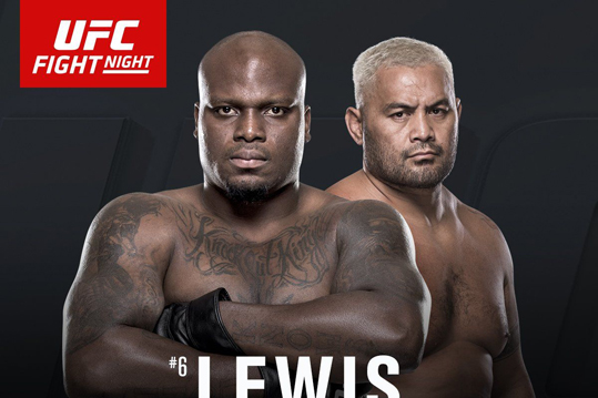 UFC Fight Night 110: Lewis vs. Hunt – Resultat etcetera