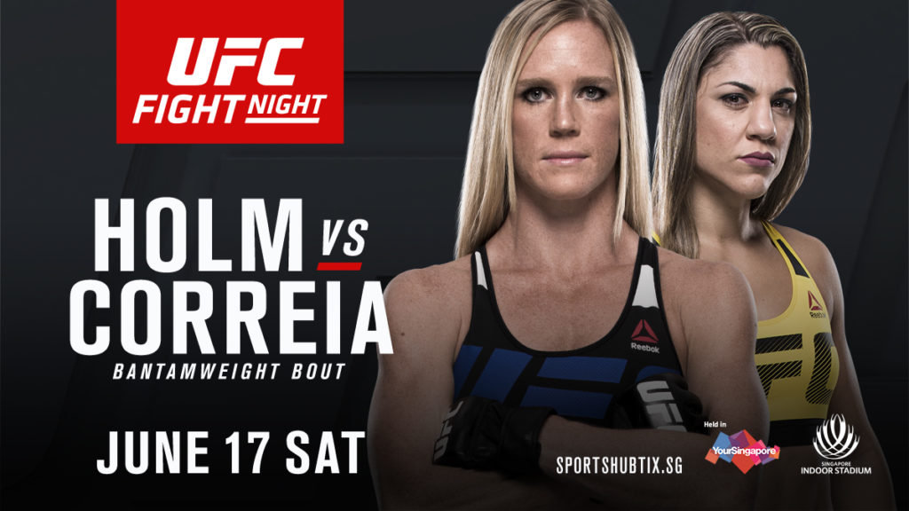 UFC Fight Night Singapore: Holm vs Correia – fightcard och teaser
