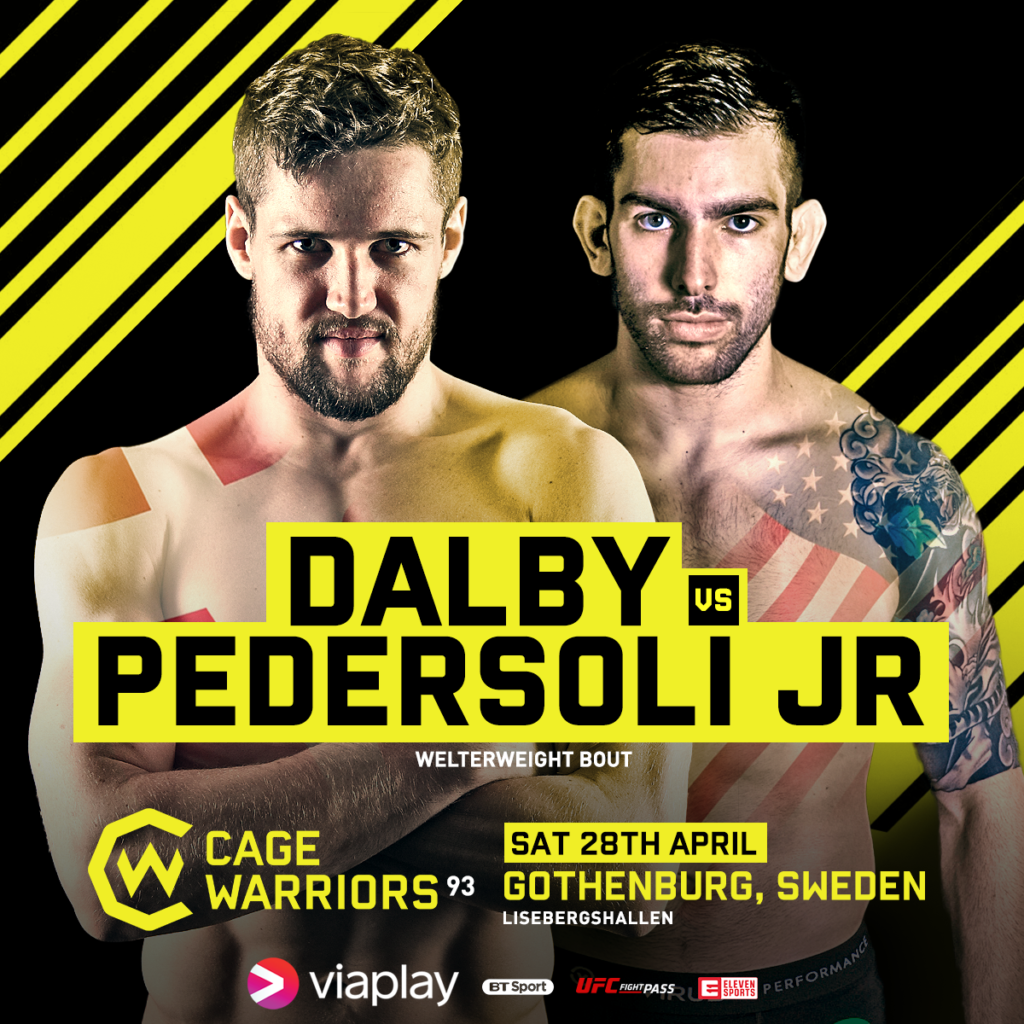 Press Release from Cage Warriors: Opponents confirmed for Dalby and Bergh at CW93 in Sweden