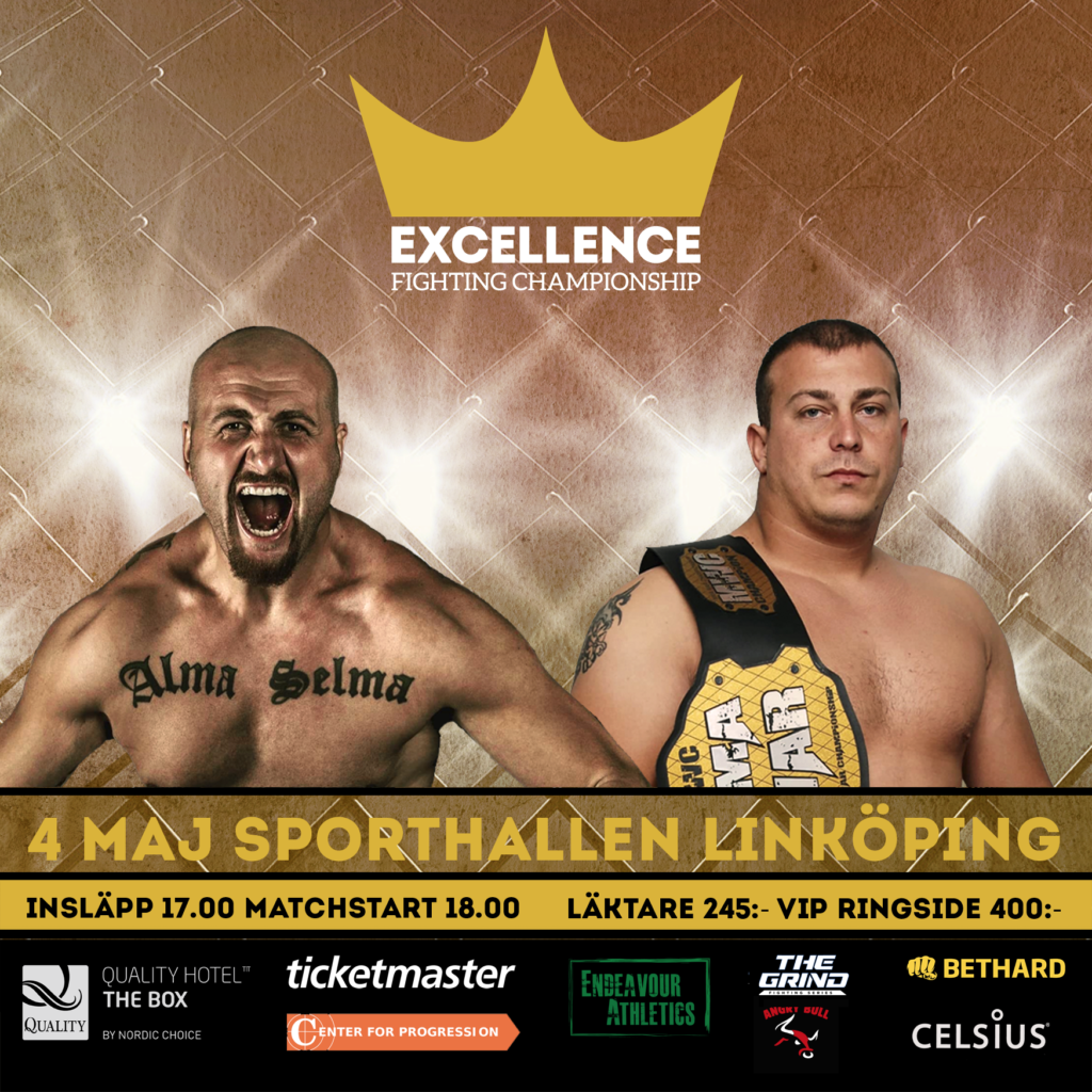 Se hela galan Excellence Fighting Championship via FighterTV