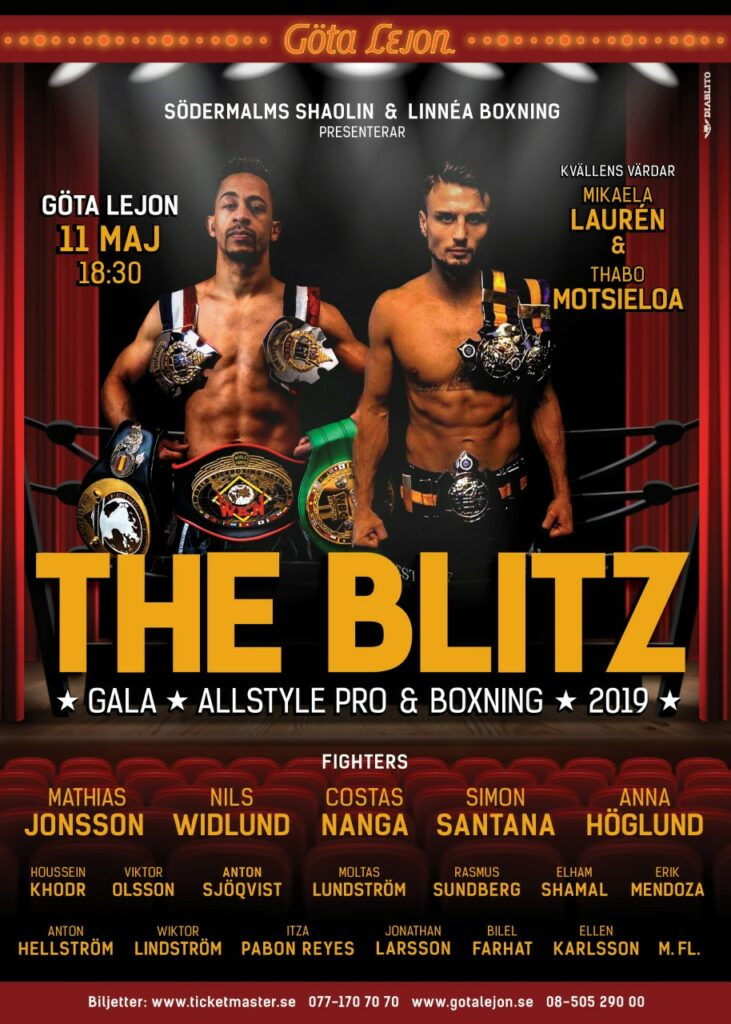The Blitz 2019 – fightcard och biljettinformation