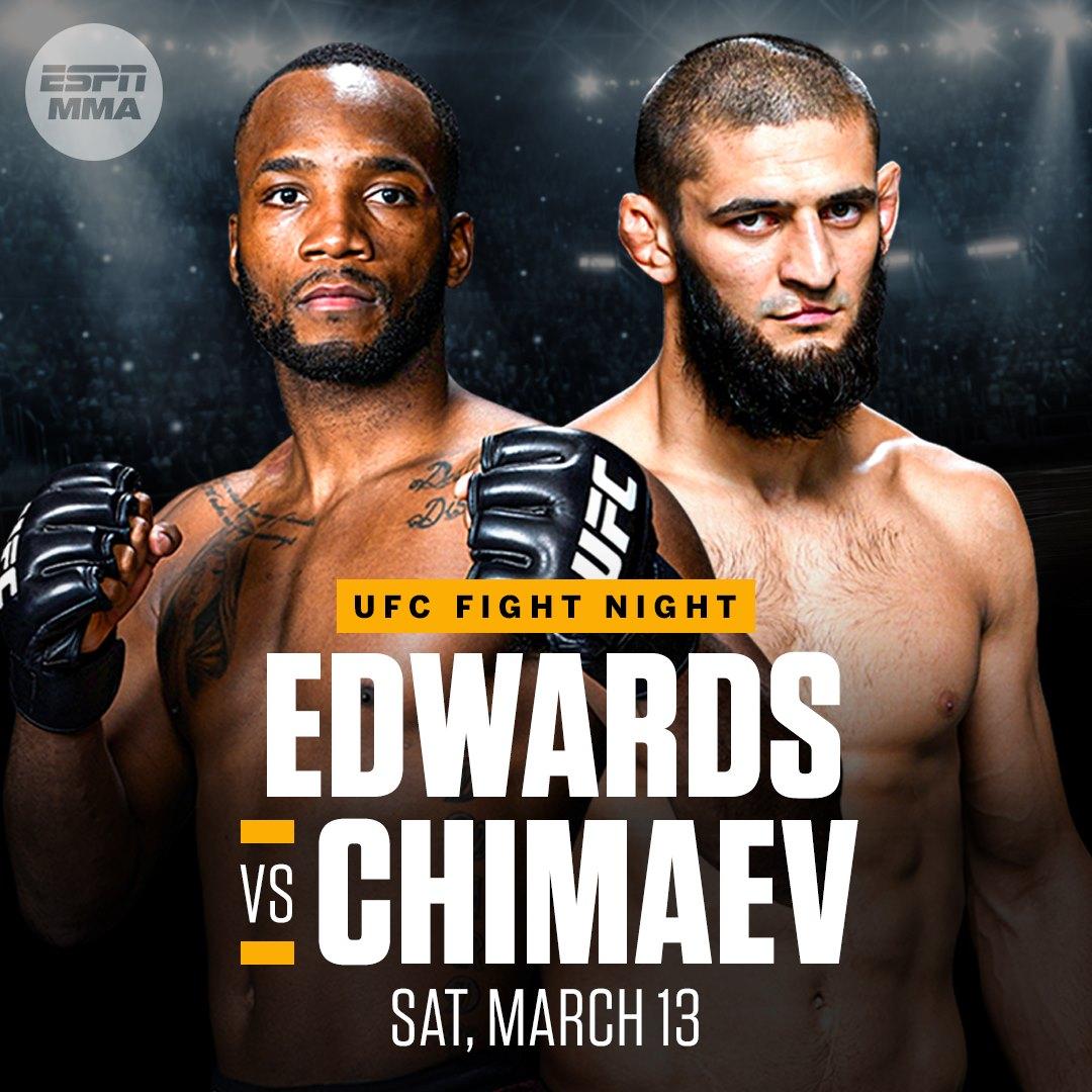 Khamzat Chimaev vs. Leon Edwards har fått ett nytt datum