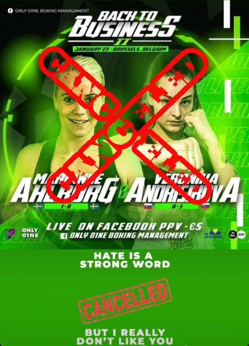 Ingen match för Marianne Ahlborg till helgen