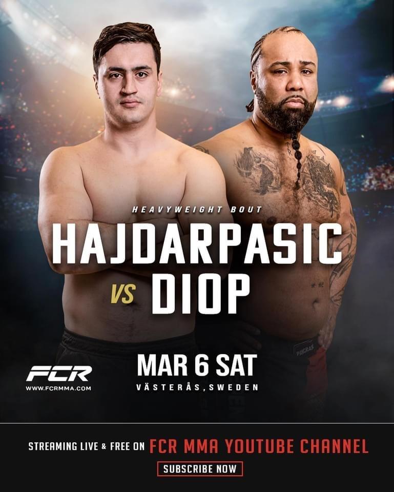 Före detta SM-kungen i boxning, Nermin Hajdarpasic gör proffsdebut i MMA på Fight Club Rush
