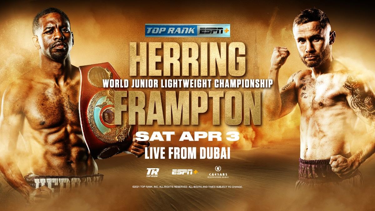 Påskgodis för boxningsfansen på YouTube i helgen: Frampton vs Herring från Dubai