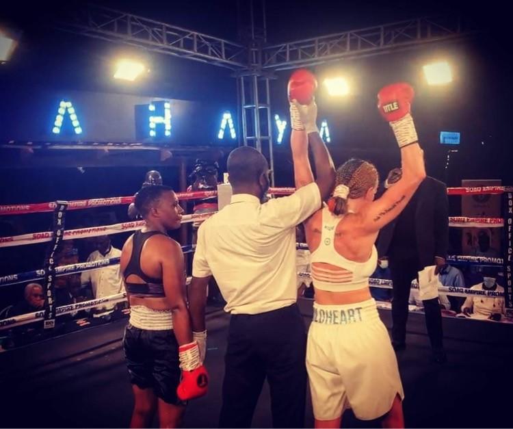 """Klar poängseger för Lucy Wildheart i Accra, Ghana igår kväll – """"Jag hade kontroll hela matchen"""""""