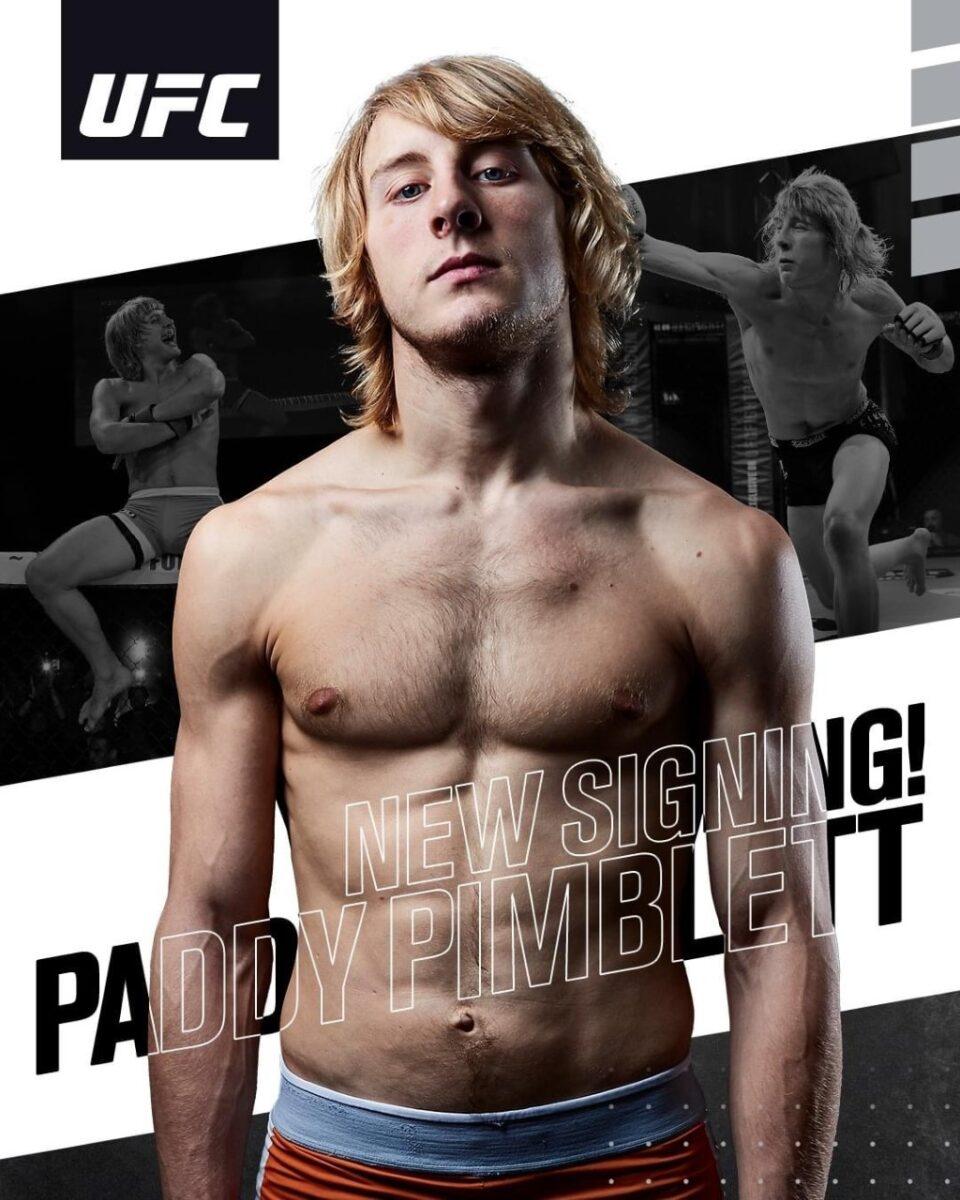 Engelske MMA-stjärnan, Paddy Pimblett från Liverpool har skrivit på för UFC