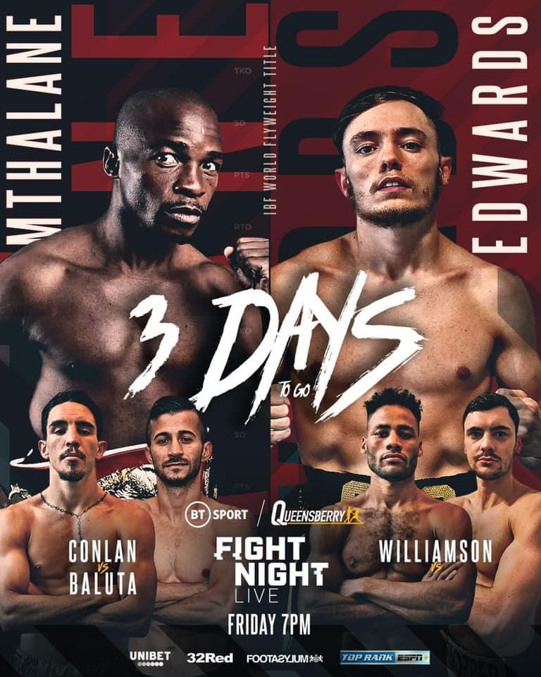VM-fight i flugvikt på Frank Warrens gala på fredag – Edwards vs. Mthalane