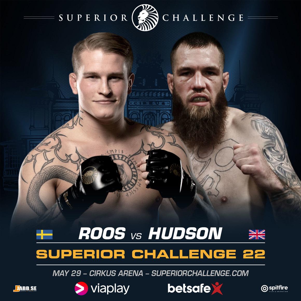 Superior Challenge 22: Taggad Roos möter Bellator-veteran