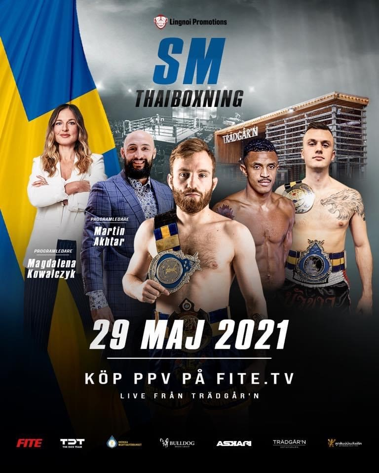 Thaiboxnings-SM 2021 avlöper i Göteborg i maj månad – Streamas på FITE