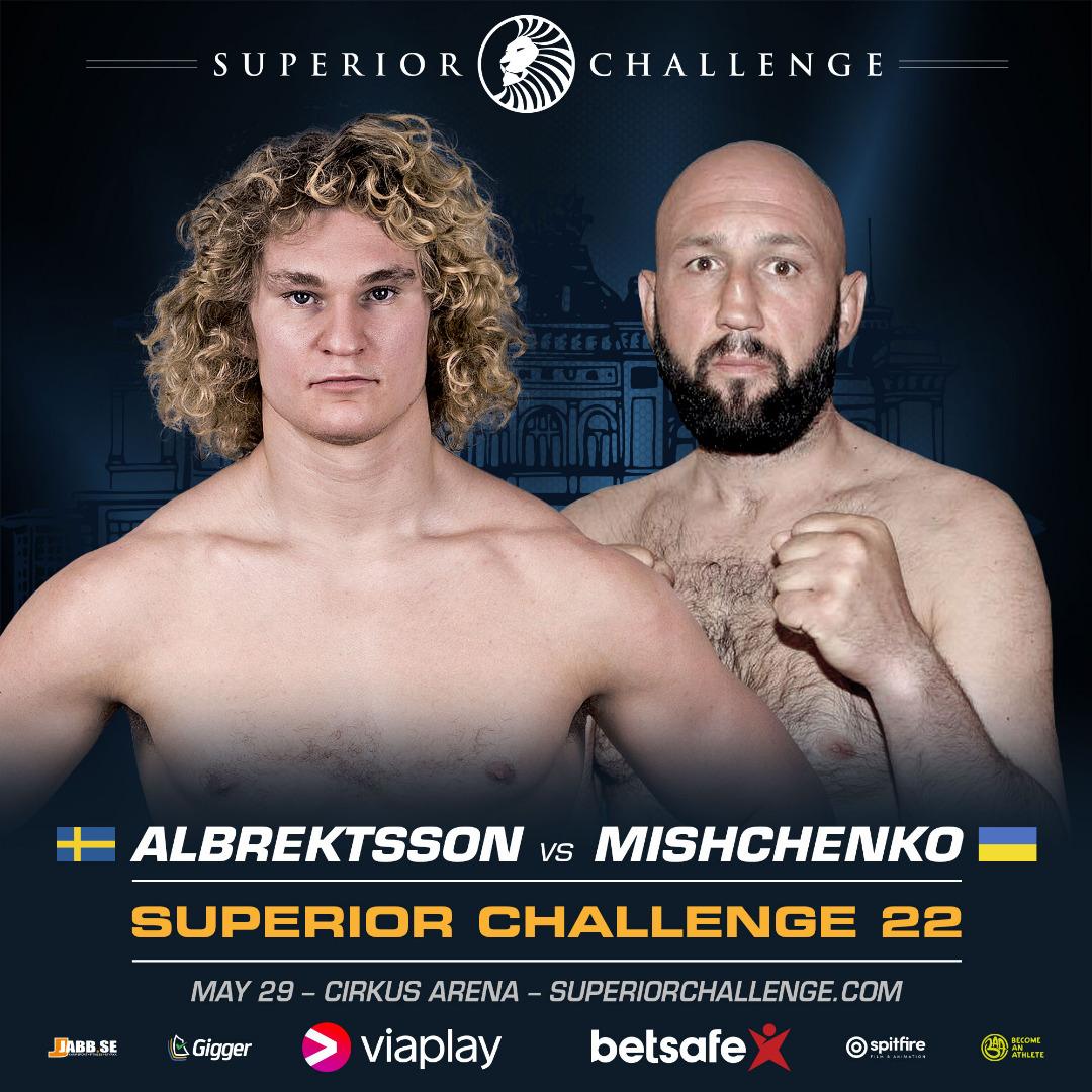 Ny motståndare till Karl Albrektsson på Superior Challenge – möter tuff ukrainare