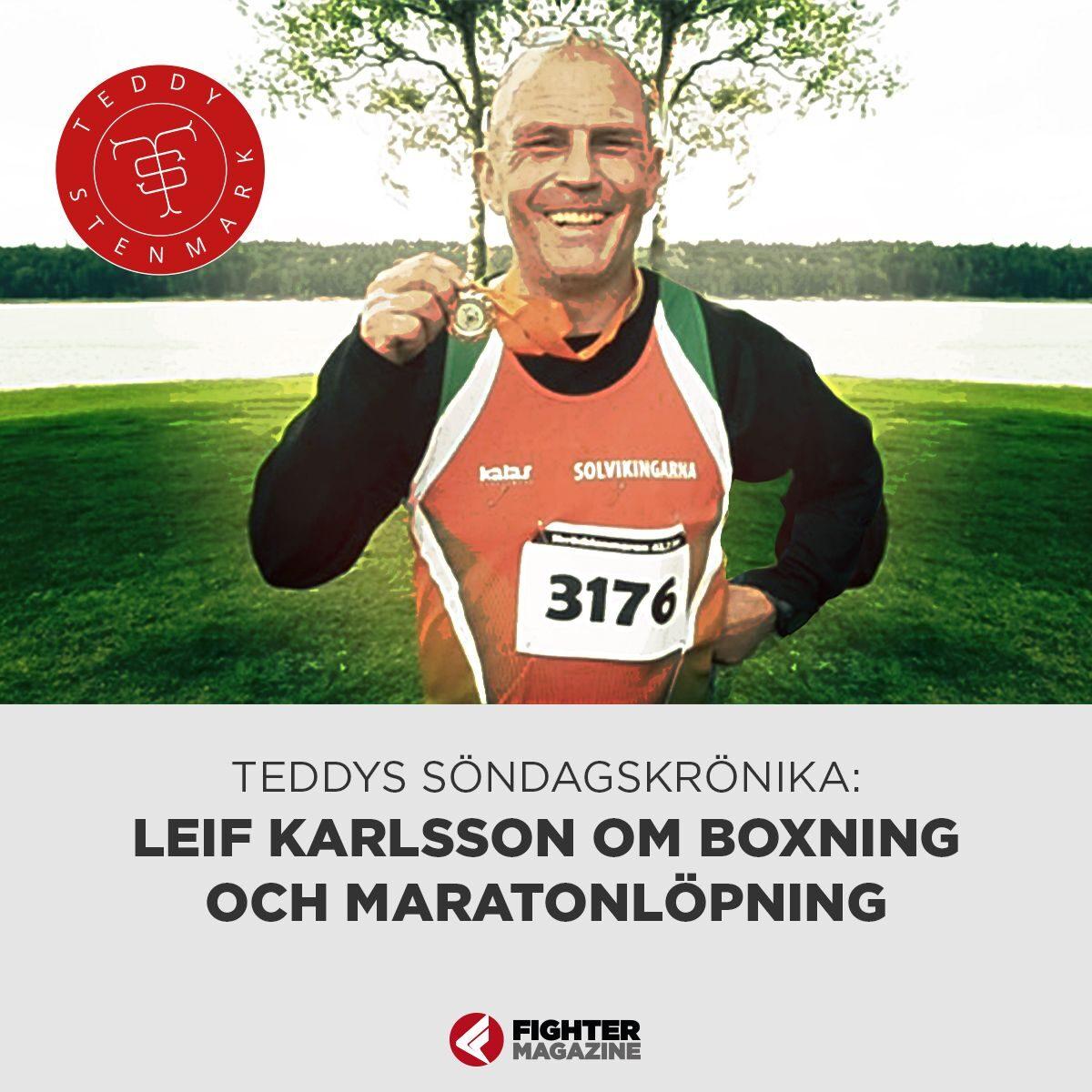 Leif Karlsson: Boxarlivet byttes ut mot löpartillvaro
