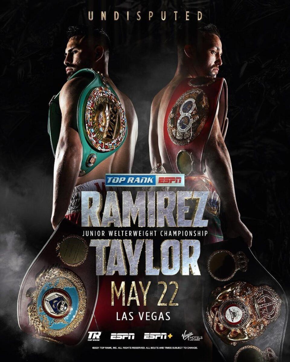 Taylor vs Ramirez om den odiskutabla VM-titeln i superlättvikt i Las Vegas