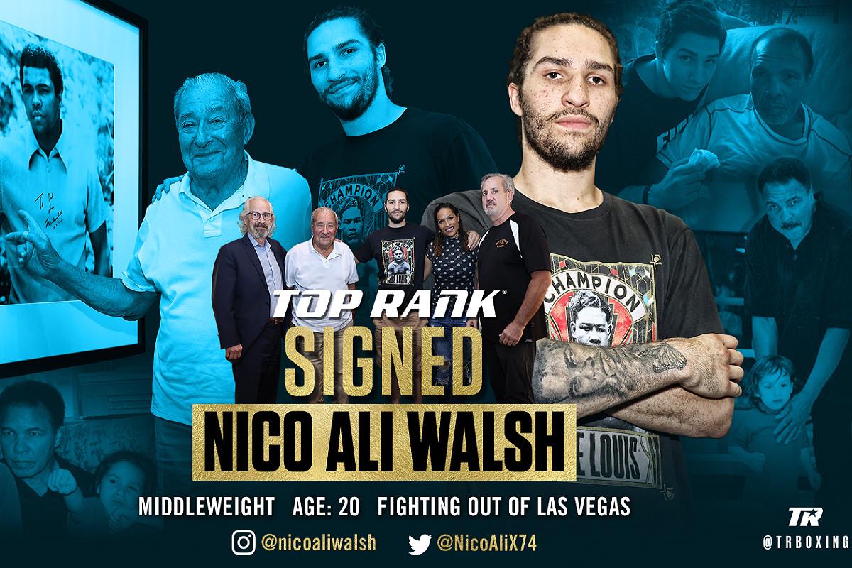 Muhammad Alis barnbarn, Nico Ali Walsh blir proffs – debuterar i augusti för Top Rank Promotions