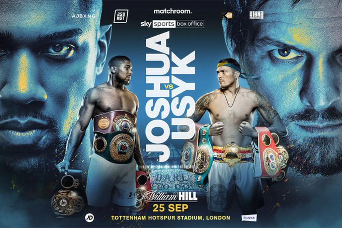 Joshua vs. Usyk på Tottenham Hotspurs Stadium 25:e september – Definitivt inte sämre än Joshua vs. Fury !