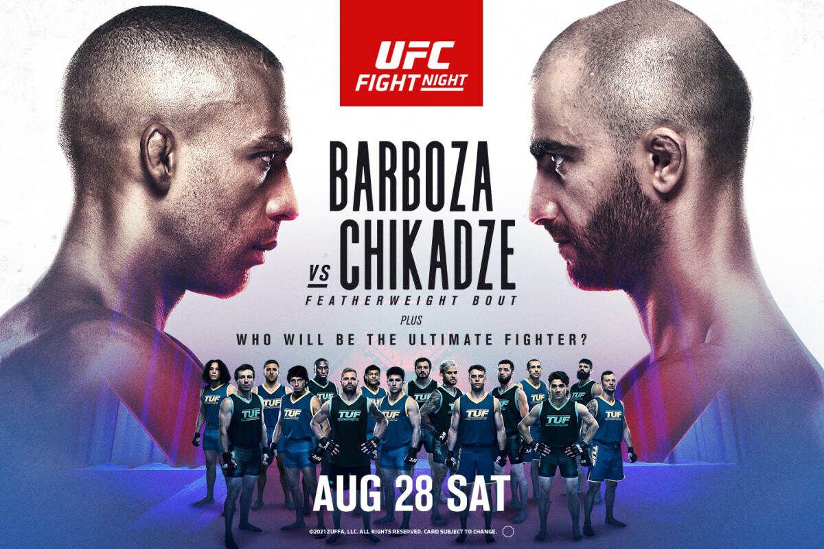Inför UFC Fight Night Barboza vs. Chikadze – TUF-finalisterna gör upp