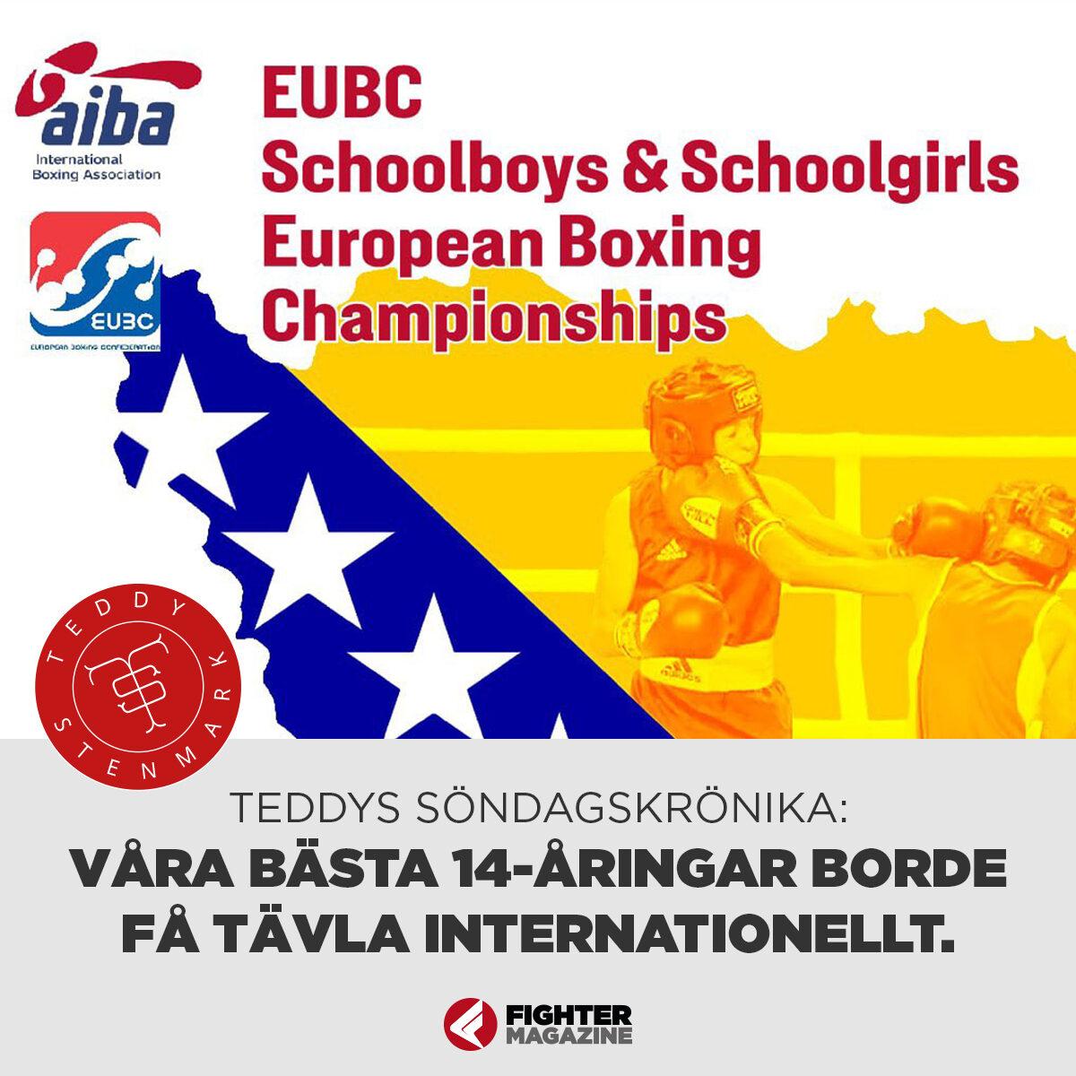 Söndagskrönikan: Våra bästa 14-åringar i boxning borde få tävla internationellt