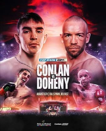 Mästare vs. mästare när Top Rank Promotions dundrar in i Belfast på fredag – Conlan vs. Doheny,  McGregor vs. Legrand