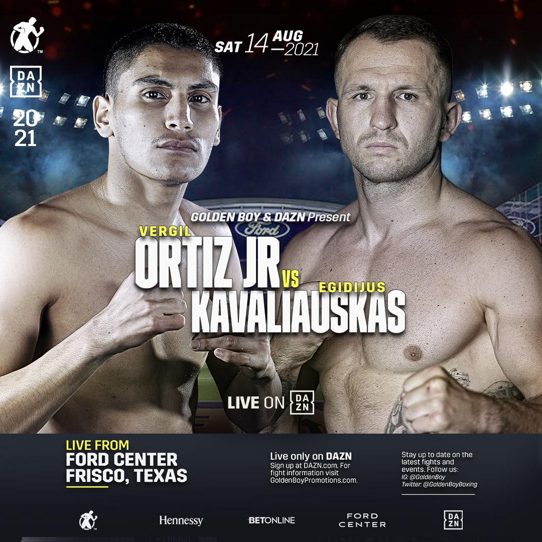 Blir det ännu en knockout för 100 procentige Vergil Ortiz Jr i helgen?