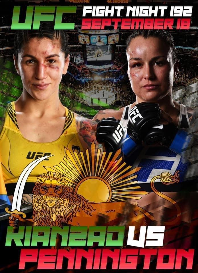 Fyra raka segrar i UFC för Pannie Kianzad, blir det femte på följd för henne den 18:e september?
