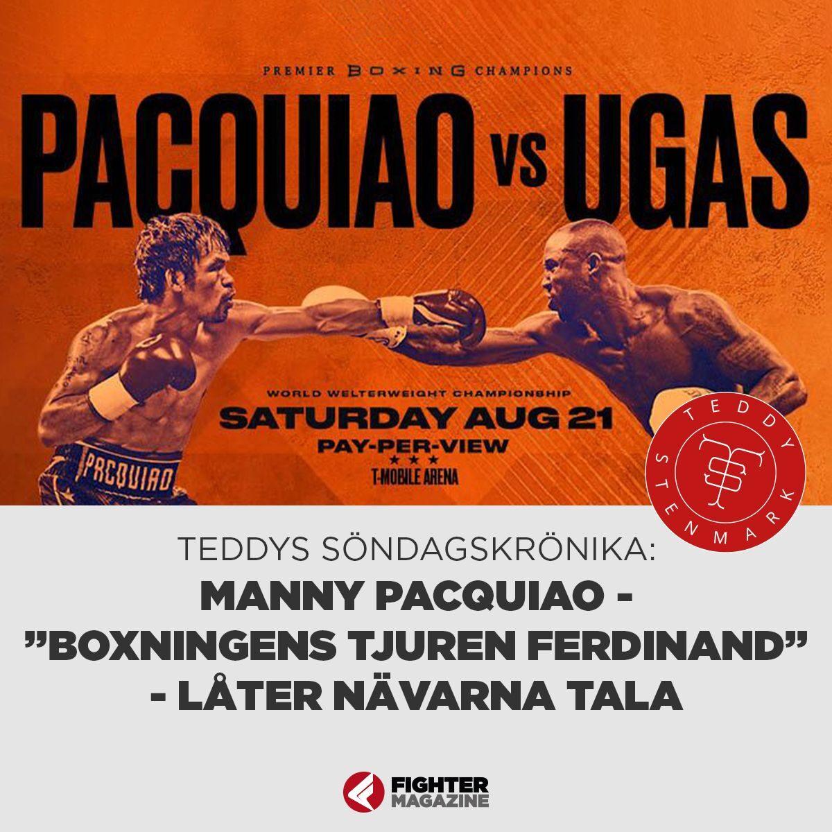 """Söndagskrönikan: Manny Pacquiao, """"Boxningens Tjuren Ferdinand"""" låter nävarna tala"""