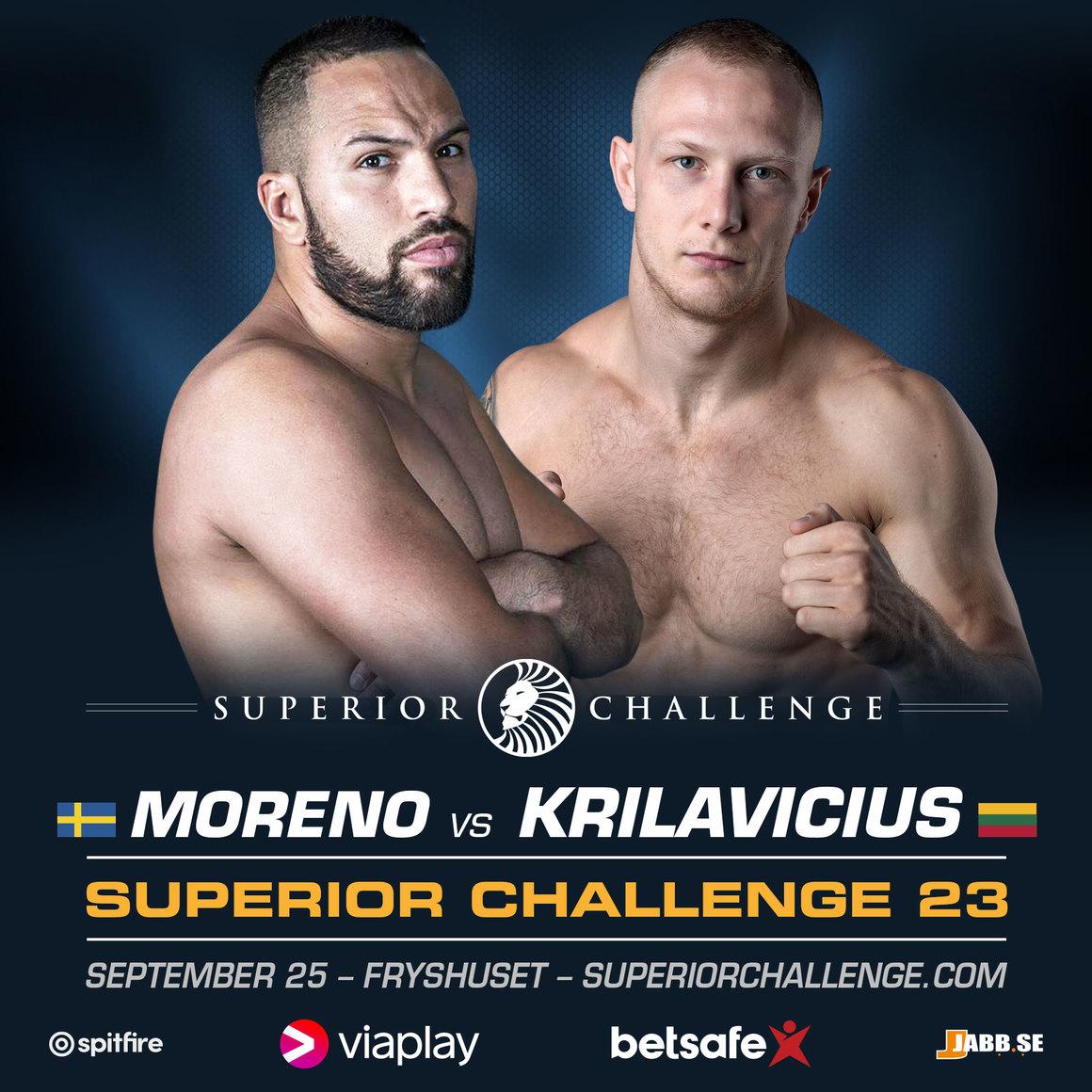 Superior Challenge 23: Moreno är tillbaka i ännu en tuff match