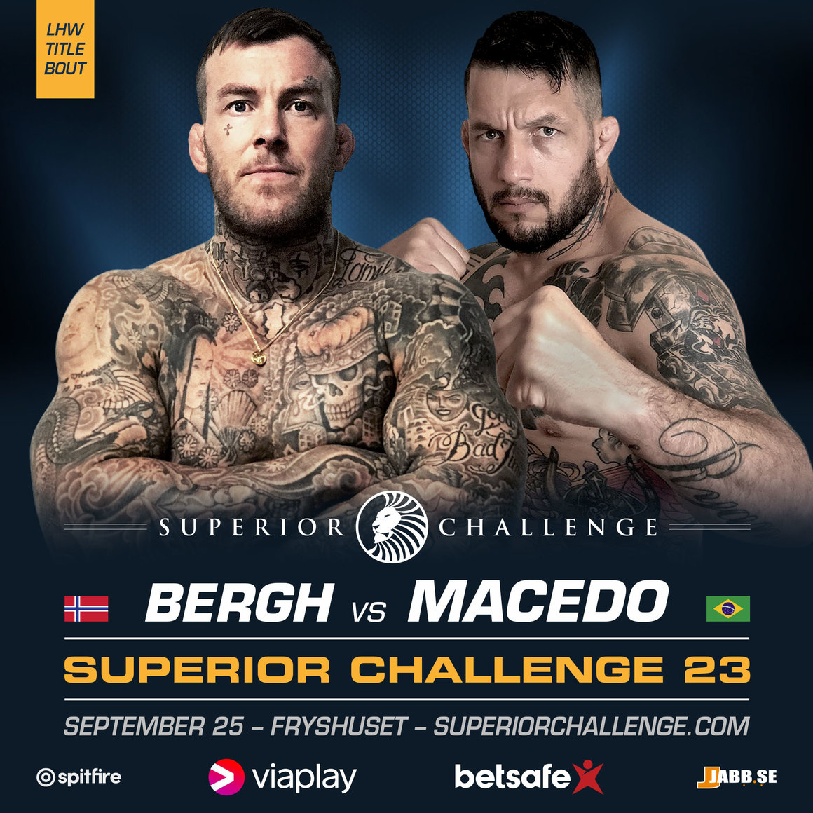 Kenneth Bergh i titelmatch på Superior Challenge 23